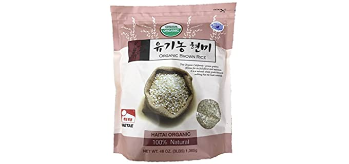 Haitai Whole Grain - Brown Organic Basmati Rice