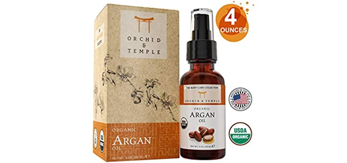 Orchid and Temple Therapeutic - Body Care Organic Argan Oil