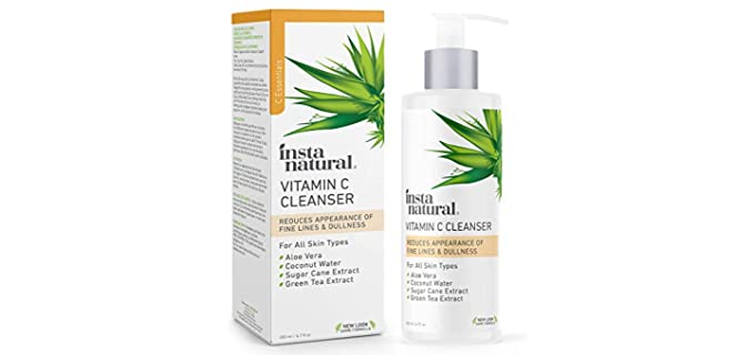 Insta Natural Vitamin C Cleanser - Organic Anti Aging Skincare