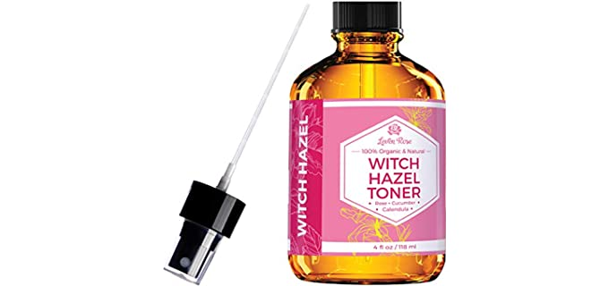 Leven Rose 100% Pure - Organic Witch Hazel Toner
