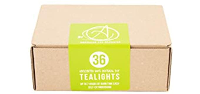 American Soy Unscented - Tea Light Candles
