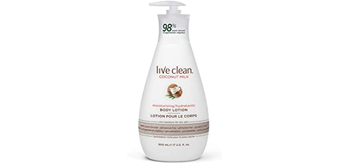 Live Clean Coconut Milk - Organic Lotion for Body