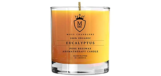 Moss Chandlers Aromatherapeutic - Beeswax Candle