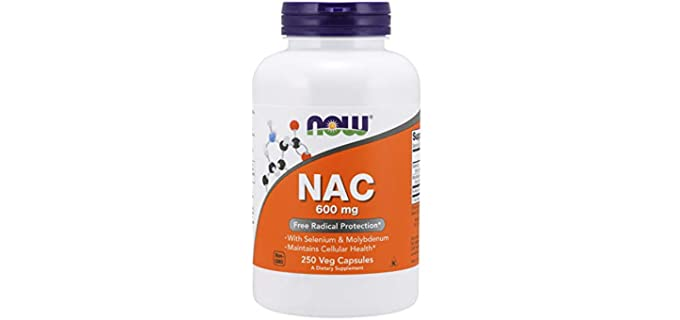 NOW Foods Veg Capsules - NAC (N-Acetyl Cysteine) Supplements