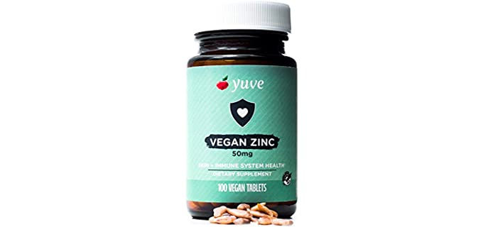 Yuve Gluten-Free - Organic Zinc Supplements