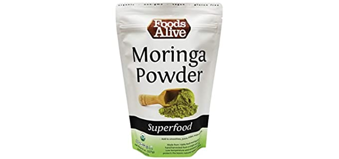 Foods Alive Plant-Based - Organic Raw Moringa Powder