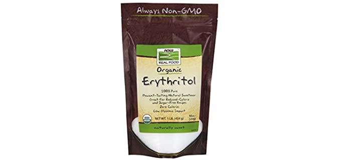 NOW Foods Low-Calorie - Best Organic Erythritol