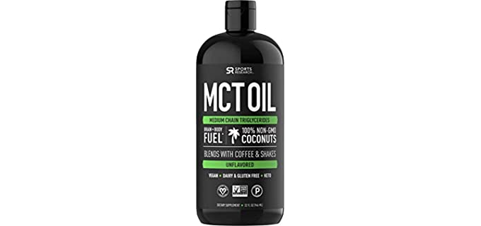 Sports Research Non GMO - Organic MCT Oil