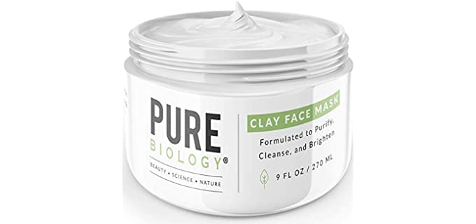 Pure Biology Premium Bentonite - Clay Face Mask