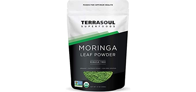Terrasoul Superfoods Miracle Tree - Non-GMO Organic Moringa Powder