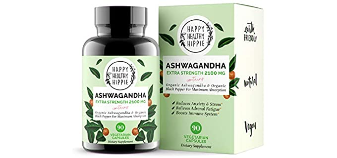 Happy Healthy Hippie Extra Strength - Organic Ashwagandha Root Powder