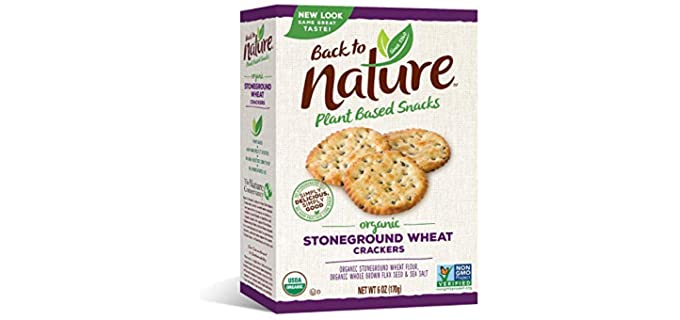 Back to Nature Stoneground - Organic Wheat Crackers