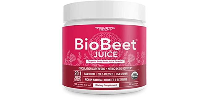 Triquetra Health Enzymatic - Pure Organic Beet Powder