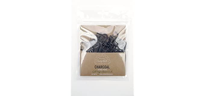 Lucky Teeth Biodegradable - Activated Charcoal Floss Picks