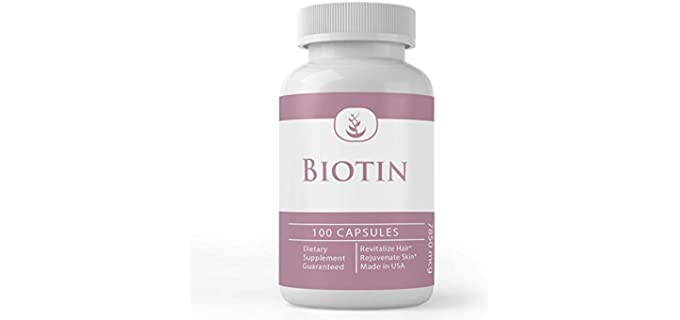 Pure Organic Ingredients Natural - Organic Biotin Supplement