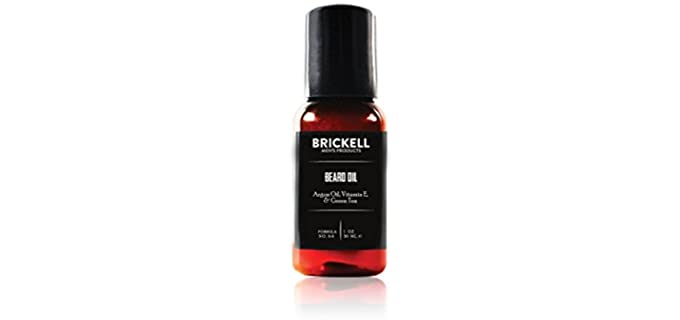 Brickell Men's Products Strengthening - Beard Oil for Men