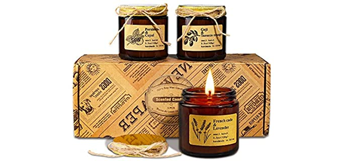 Yinuo Mirror Luxury - Organic Scented Candle Set