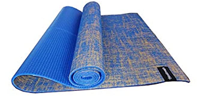 EcoStrength Blue Hemp - Jute Yoga Mat