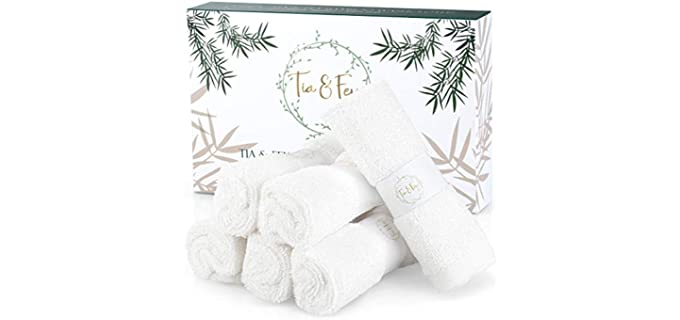 Tia & Fey Face Cloth - Organic Bamboo Towels