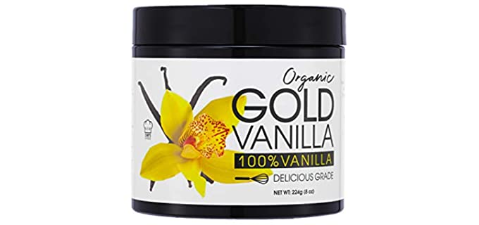 Gold Delicious Grade - Organic Vanilla Powder