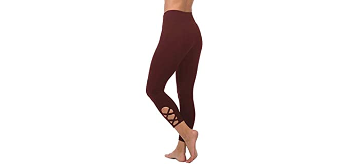 In Touch Women's - Organic Criss Cross Yoga Capri