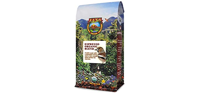 Java Planet Organic Coffee Roasted - Organic Espresso Blend Coffee Beans