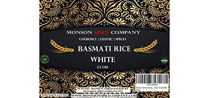 Monsoon Spice Company White - Organic Basmati Rice