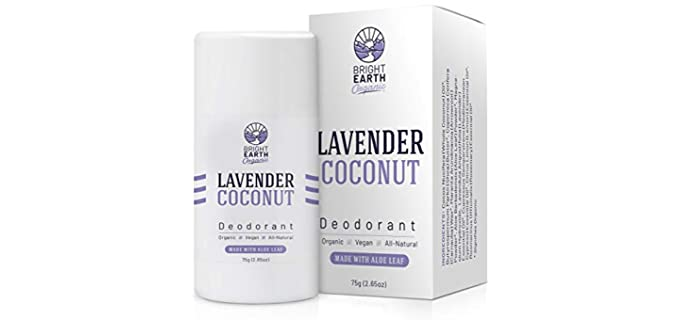 Bright Earth Organic Natural - Coconut Lavender Organic Deodorant
