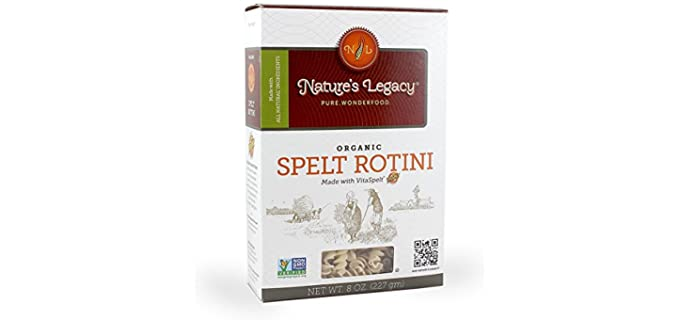 Nature's Legacy Spelt Rotini - Digestible Organic Pasta