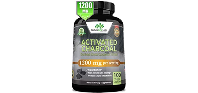 NaturaLife Labs Capsules - Organic Activated Charcoal