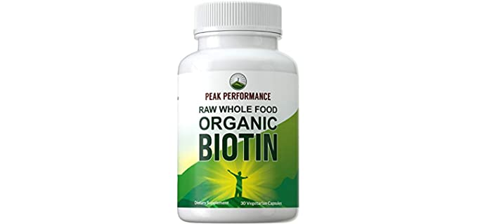 Peak Performance Whole Food - Organic Biotin