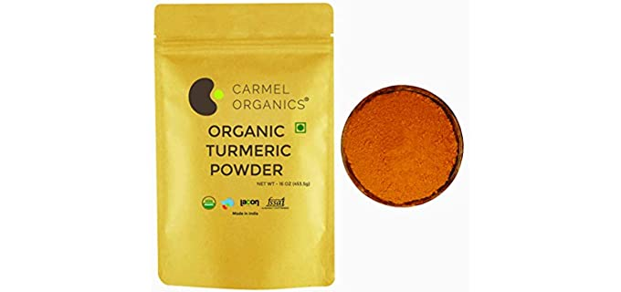 CARMEL ORGANICS Lab-Tested - Organic Turmeric Powder