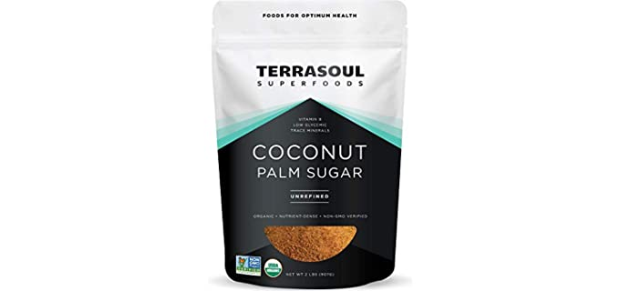 Terrasoul Superfoods Unrefined - Organic Coconut Sugar