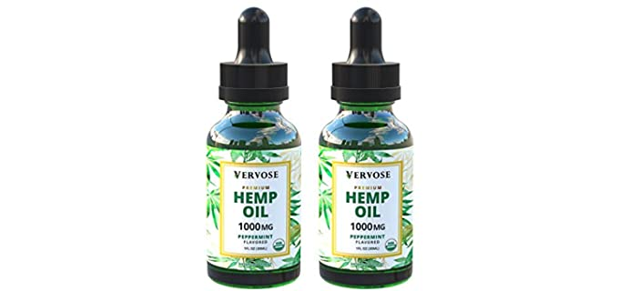 Vervose 1000mg - Organic Hemp Oil