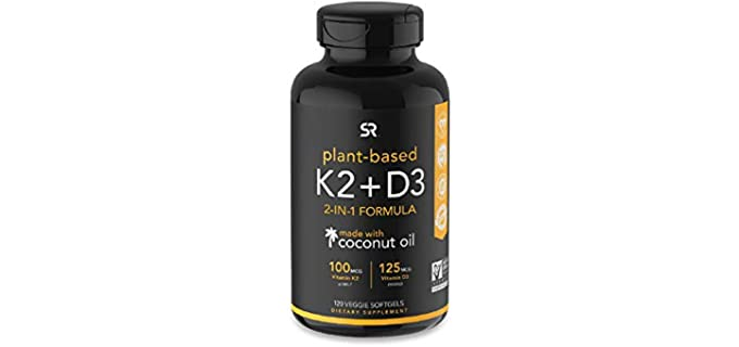 Sports Research Plant-Based - Organic Vitamin K2 + D3