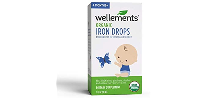 Wellements Infants - Organic Iron Drops Supplement