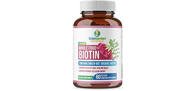 LifeGarden Naturals Vegan - Organic Biotin Supplement