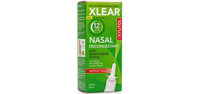 Xlear 12-Hour - Decongestant Nasal Spray