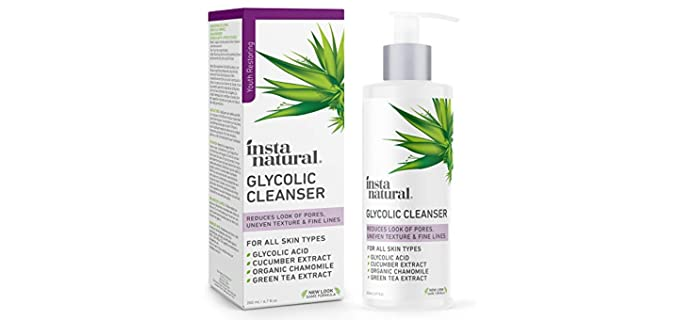InstaNatural Anti-Acne - Organic Glycolic Acid Facial Cleanser