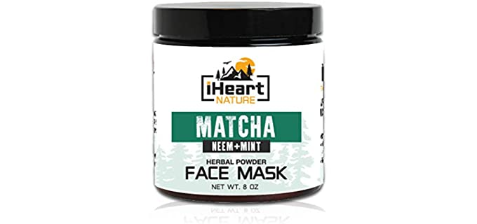 iHeart Nature Natural - Green Tea Matcha Face Mask