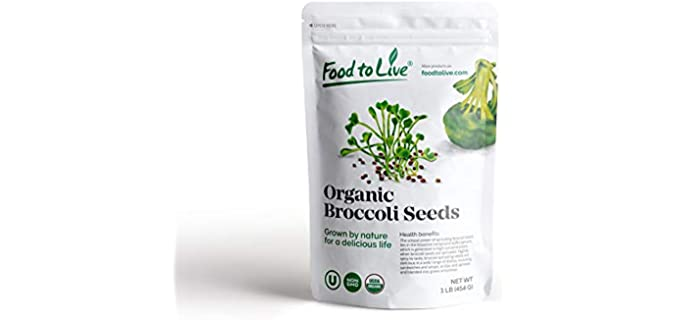 Food to Live Bioactive - Blendable Organic Broccoli Sprouting Seeds