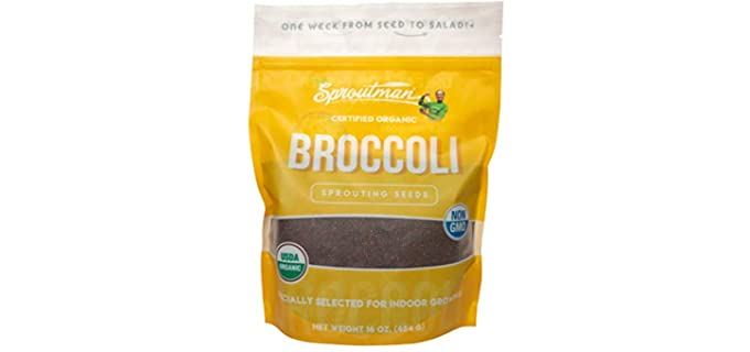 Sproutman Enzymed - Organic Broccoli Indoor Sprouting Seeds