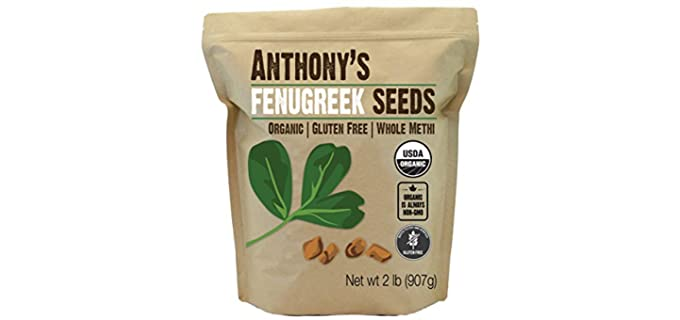 Anthony's Organic Non-Irradiated - Organic Whole Fenugreek Sprouting Seeds