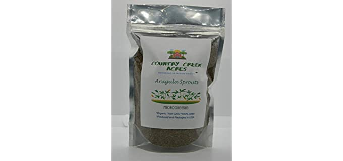 Country Creek Acres Non-GMO - Organic Arugula Sprouting Seeds