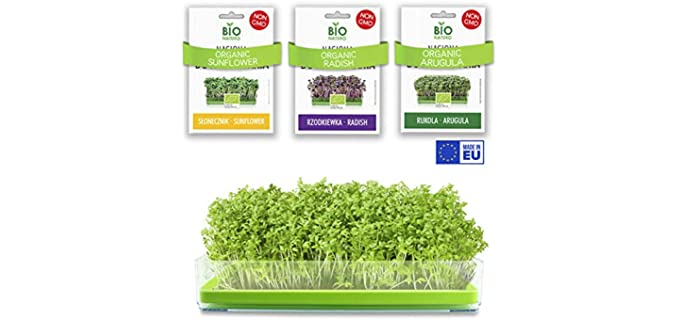 BIO NATURO Grow-Kit - Soil- Free Organic Arugula Sprouting Seeds