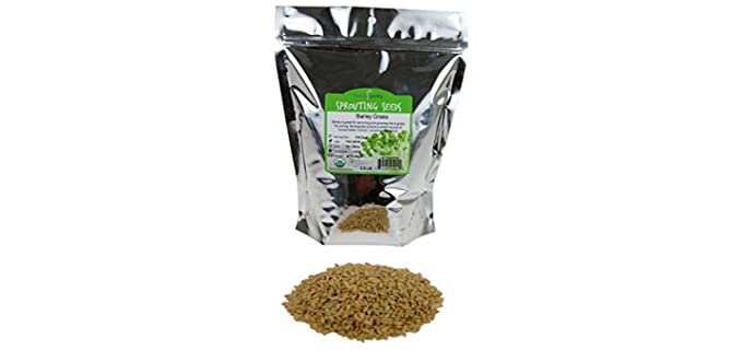Handy Pantry Rapid-Grow - Organic Intact Barley Sprouting Seeds