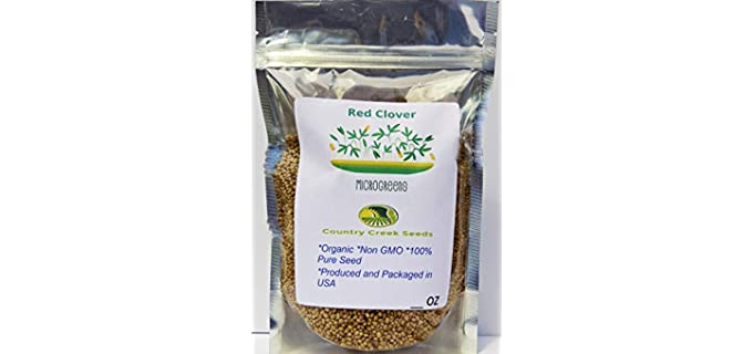 Country Creek High-Yield - Organic Clover Sprouting Seeds