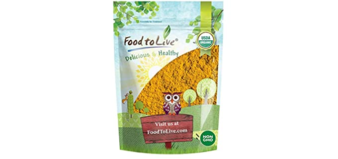 Food to Live Raw - Organic Turmeric Powder