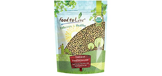 Food to Live Store Brown Speckled - Organic Non-GMO Pea Sprouting Seeds