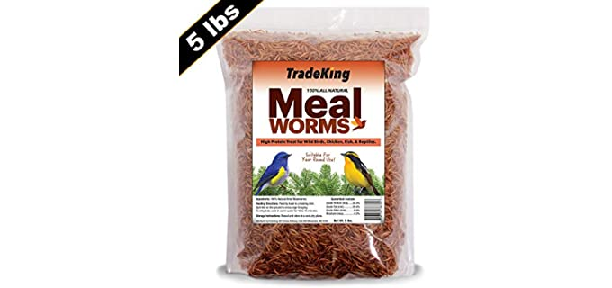 TradeKing Dried - Mealworm Organic Chicken Feed